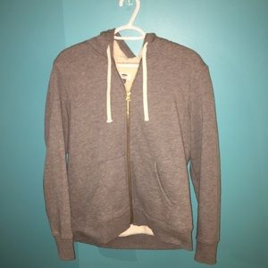 Grey old navy zip up